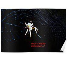 Talking Halloween spider Poster