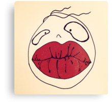 RED LIPS MONSTER Canvas Print