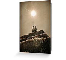 high a TOP the haystack Greeting Card
