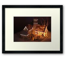 A piece from Dickens Village Framed Print