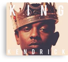 King Kendrick Lamar Canvas Print