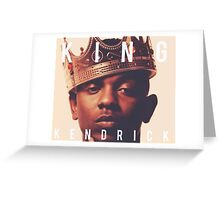 King Kendrick Lamar Greeting Card
