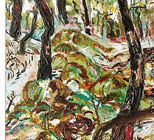 'Moss'  Oil Painting by Lozzar Flowers & Art