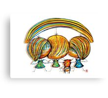 A Rainbow of Angels Canvas Print