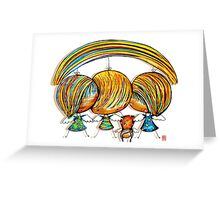 A Rainbow of Angels Greeting Card