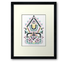 ethnic abstraction Framed Print
