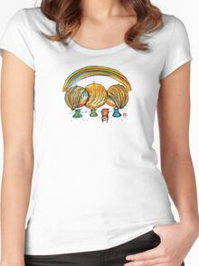 A Rainbow of Angels TShirt Women's Fitted Scoop T-Shirt