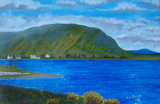 Killary Harbour near Leenane by Samuel Ruth