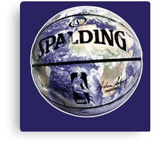 The World Of BasketBall, NBA Inspired Earth Baller,  Canvas Print