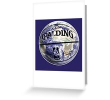 The World Of BasketBall, NBA Inspired Earth Baller,  Greeting Card