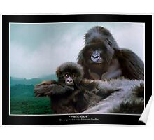 """Precious"" (Mountain Gorillas) Poster"