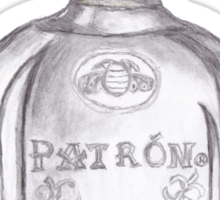 Patron Tequila Bottle T-Shirt Sticker