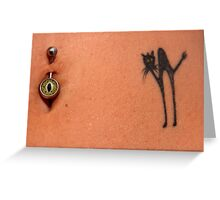 Tattoos and Piercings Greeting Card
