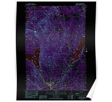 Maine USGS Historical Map Hartland 105200 1982 24000 Inversion Poster
