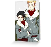 [SnK] Levi and Erwin Phone Case Greeting Card