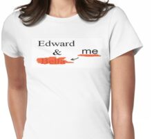 edward and bella...not  Womens Fitted T-Shirt