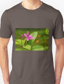 Another view of the purple flower Unisex T-Shirt