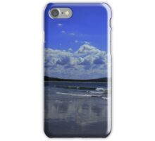 Cloud reflections at Brooms Head Beach iPhone Case/Skin