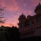 Sunset over Udaipur by DeborahDinah