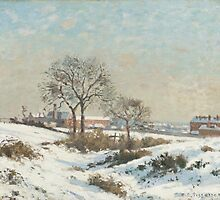 Camille Pissarro - Snowy Landscape at South Norwood by Adam Asar