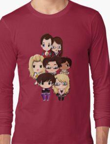 Big bang Theory cartoon people Long Sleeve T-Shirt