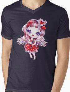 Valentine Girl Mens V-Neck T-Shirt