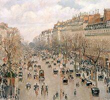 Camille Pissarro (Danish-French, 1830-1903), Boulevar Montmartre, 1897 by Adam Asar