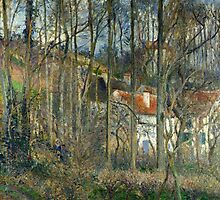 Camille Pissarro (Danish-French, 1830-1903), The forest at the Hermitage , 1877 by Adam Asar