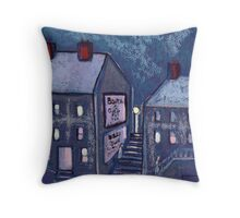 Hill street Throw Pillow