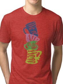 We're All Mad Tea Party Tri-blend T-Shirt