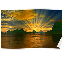 Sunset - In the Land of the Rising Sun. Poster