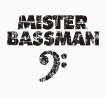 MISTER BASSMAN Vintage Black Kids Tee