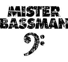 MISTER BASSMAN Vintage Black by theshirtshops