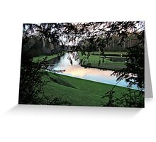 Fountains Abbey water gardens Greeting Card