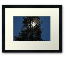 """And God said, """"Let there be Light"""".  Genesis 1:3 Framed Print"""