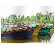 Colorful Fishing Trawlers Poster