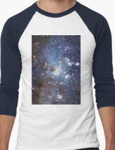 Blue Galaxy Men's Baseball ¾ T-Shirt