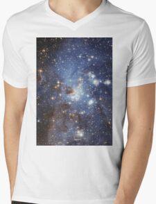 Blue Galaxy Mens V-Neck T-Shirt