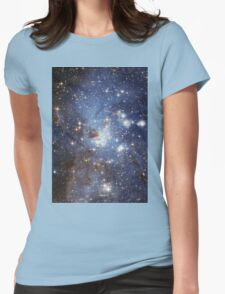 Blue Galaxy Womens Fitted T-Shirt