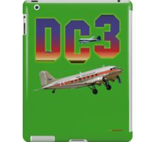 DC3 T-shirt Design iPad Case/Skin