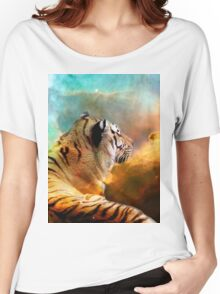 Tiger and Space Women's Relaxed Fit T-Shirt