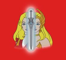 She-Ra Princess of Power - Adora/She-Ra/Sword - Color One Piece - Short Sleeve