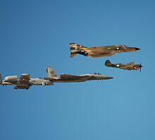Heritage Flight Military Aircraft Formation by Jerome Berner