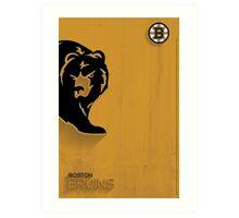 Boston Bruins Minimalist Print Art Print