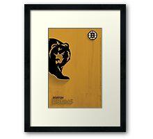 Boston Bruins Minimalist Print Framed Print