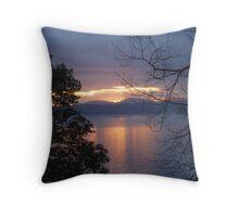 A BEAUTIFUL WINTERS SUNSET Throw Pillow