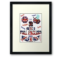 Happy 2 bee eating a full english Breakfast Framed Print