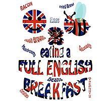 Happy 2 bee eating a full english Breakfast Photographic Print