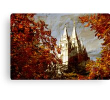 Salt Lake Temple - Autumn Season Canvas Print