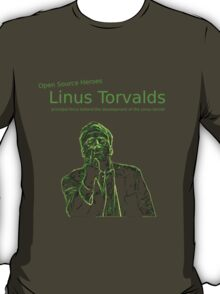 Linux Open Source Heroes - Linus Torvalds T-Shirt